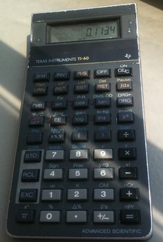 My TI-60, purchased in 1988. Still works!!!