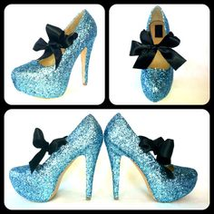Calypso Glitter Pumps by ChelsieDeyDesigns... Phenomenal. lOVE THEM...REMINDS ME OF aLICE IN WONDERLAND