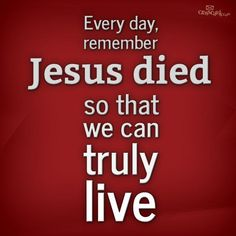God loves us so much, he sent his only son to take our place...John 3:16