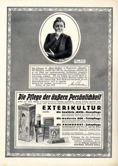Kolberger Anstalten für Exterikultur Kosmetik Else Lehmann... Hist. Annonce 1914   eBay