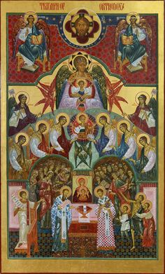 The Icon of Triumph of Orthodoxy Religious Images, Religious Icons, Religious Art, Byzantine Icons, Byzantine Art, Greek Icons, Church Icon, Christian Artwork, Russian Icons
