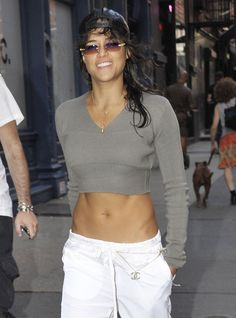 Woah. Check out Michelle Rodriguez's abs. What's her secret?