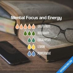 Mental Focus and Energy - Essential Oil Diffuser Blend #EssentialOilBlends #EssentialOils