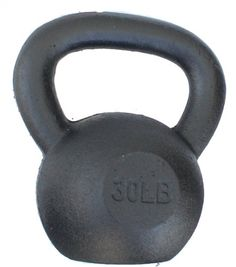 (Single) Solid Cast Iron Kettbell from 5, 10, 15, 20, 25, 30, 35, 40, 45, 50, 55, 60, and 65 lbs - Great quality... $6.50 (save $53.49)