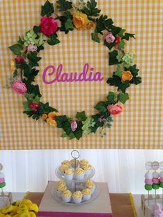Bar, Candy, Sweet, Desserts, Table, Fiestas, Garlands, Yellow, Sweets
