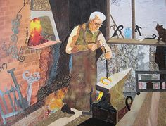 M.Myers- i chose this picture because it reminds me of Joe, He's a blacksmith and a very hard worker, The working shop is also very alike.