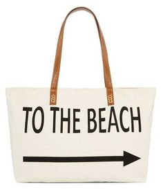 Straw Studios Graphic Canvas Tote   Ready for a summer of sun, surf, and sand? These totes and cover-ups will see you through the season in style.