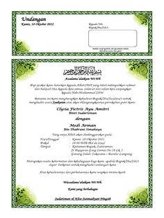 Undangan Kamis, 18 Oktober 2012 Kepada Yth, Bapak/Ibu/Sdr/i : Mohon maaf apabila… Microsoft Excel Formulas, Microsoft Word 2010, Microsoft Office, Muslim Wedding Invitations, Wedding Invitation Background, Ramadan Background, Borders For Paper, Blurred Background, Word Doc