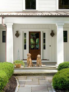 Modern Farmhouse Front Door. Love the walkway