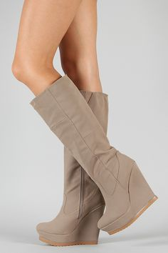 GREAT website for boots! Way cute and cheap! Lace Up Wedge Boots, Knee High Wedge Boots, Heeled Boots, Bootie Boots, Sneakers Fashion, Fashion Shoes, High Wedges, Cute Boots, Sneaker Heels