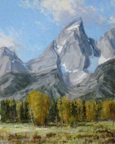 Teton Splendor - Oil Painting by Carole Cooke Jackson's Art, Mountain Paintings, Western Art, Pictures To Paint, Westerns, Mountains, Landscape, Gallery, Artist
