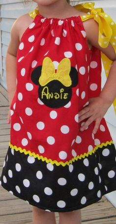 Here you go Taytum, Minnie Mouse pillowcase dress.