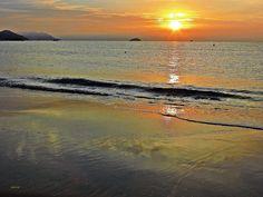 Amanece en playa centro de La Vila Joiosa