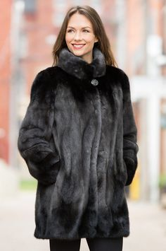 For the woman of discriminating taste, the Delilah Mink Fur Jacket is a triumph in winter fashion. Free shipping   returns.