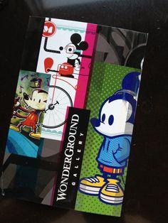 WonderGround Gallery Promo Post card. Twitter / marcomboy: @jmaruyama #Disneyland Won