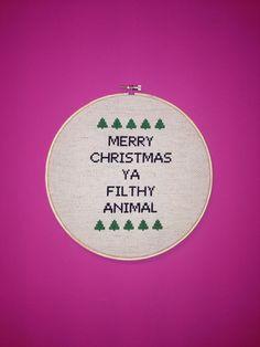 Merry Christmas Ya Filthy Animal  8 inch by teenytinytantrums