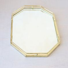 Retro Octagon Vanity Mirror Tray Vintage Home By Lostintheattic
