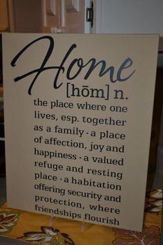Home definition vinyl decor from Uppercase Living (www.HangOnEveryWord.net)