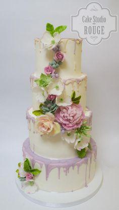 Flower wedding cake by Ceca79 - http://cakesdecor.com/cakes/217469-flower-wedding-cake