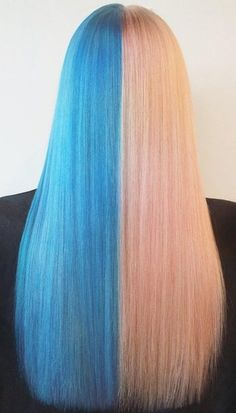 25 Two Tone Hair Color Ideas You Will Fall In Love - Trends for HAIR COLORING IN TWO COLORS Do you like experiments? We are sure that you have already looked at the hair of two colors. Latest Hair Color, Cool Hair Color, Dyed Blonde Hair, Rose Colored Glasses, Trends, Basic Style, Eye Color, Falling In Love, Cool Hairstyles