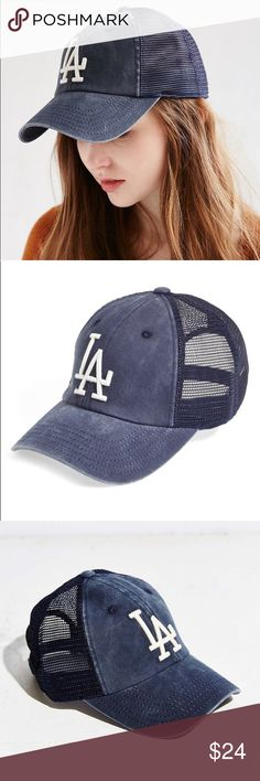 American Needle Mesh LA Dodgers Baseball Cap LA dodgers hat from Urban Outfitters. Worn one time. It is a vintage Navy Blue. Urban Outfitters Accessories Hats