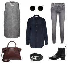#Herbstoutfit Black and Grey ♥ #outfit #Damenoutfit #outfitdestages #dresslove