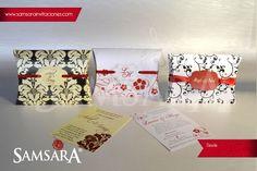 Invitaciones petit para boda, caja mini  almohada :)