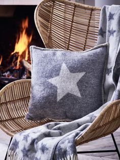 Woven from warm grey wool with a soft grey star shaped motif, our Starry Cushion has an single star on the front and starry pattern on the reverse, and perfectly complements an understated or Scandi Christmas look. Pair with our Starry Throw and Starry Stocking to complete the set.