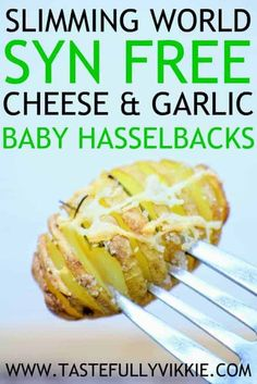 Slimming World Syn Free Hasselback Garlic & Cheese Baby Potatoes - Tastefully Vi. Slimming World Syn Free Hasselback Garlic & Cheese Baby Potatoes - Tastefully Vi. Easy Slimming World Recipes, Slimming World Desserts, Slimming World Dinners, Slimming Eats, Slimming World Lunch Ideas, Syn Free Food, Syn Free Snacks, Sw Meals, Speed Foods