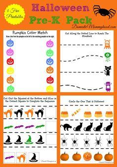 free pre k halloween pack printable - Free Preschool Halloween Printables