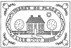 NO PLACE LIKE HOME by Fredericksburg Rugs - Pattern Only or Complete Rug Hooking Kit Rug Hooking Kits, Rugs, Pattern, Farmhouse Rugs, Patterns, Model, Rug, Swatch
