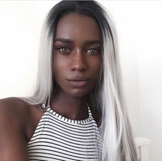 FH Hair is one of the leading wholesalers of custom human hair wigs from China. We offer best virgin hair and deal in all kinds of custom wigs. Brown Skin, Dark Skin, Black Girl White Hair, Black Girls, Beautiful Black Women, Pretty Face, Pretty People, Hair Goals, Your Hair