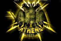 AEK Athens FC Logo Athens, Samurai, Darth Vader, History, Logos, Movie Posters, Fictional Characters, Branding, Historia