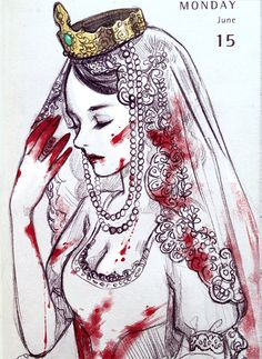 The Queen by Qinni Character Inspiration, Character Art, Character Design, Illustrations, Illustration Art, Art Sketches, Art Drawings, Qinni, Lady Macbeth