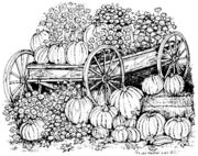 Kyle and Emily's Mum and Pumpkin Wagon #Rubber #Stamp by Northwoods Rubber Stamps