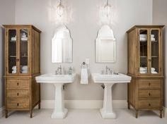 Amazing Pedestal Sink decorating ideas for Bathroom Traditional design ideas with Amazing baseboard bathroom storage