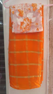 Albeli Checks With Designer Blouse | Buy Online Sarees | Elegant Fashion Wear