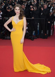 dress, red carpet, and anna kendrick image