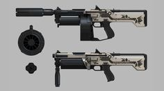 ArtStation - Deus Ex: Mankind Divided - Shotgun, Nicolas Belley