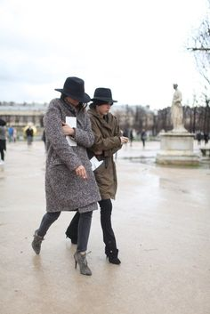 Paris fashion week is all about the fedora.