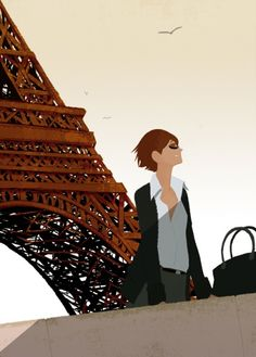 Le temps à venir: Illustration by Matthieu Forichon #illustration #Paris #MatthieuForichon