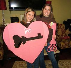 cute idea!! the little has the key to her bigs heart :)