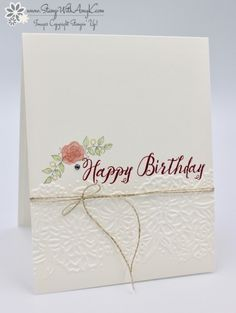 Stampin' Up! Lots of Lavender with Feather Together Birthday Card – Stamp With Amy K