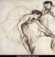 Two Dancers Resting - Edgar Degas - www.edgar-degas.org