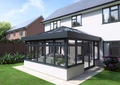 Get inspiration and Conservatory examples with our Gallery page, whether it's for a conservatory, orangery, roof lanterns or Kitchen extension. House Extension Plans, House Extension Design, House Design, Extension Ideas, Garden Room Extensions, House Extensions, Orangerie Extension, Modern Conservatory, Conservatory Interiors