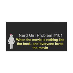Nerd Girl Problems ❤ liked on Polyvore