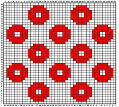 Option For Tiled Quilt - Knitting - Fo Option - Diy Crafts - Qoster Tapestry Crochet Patterns, Crochet Quilt, Crochet Blocks, Crochet Chart, Crochet Home, Filet Crochet, Crochet Motif, Crochet Stitches, Punto Fair Isle