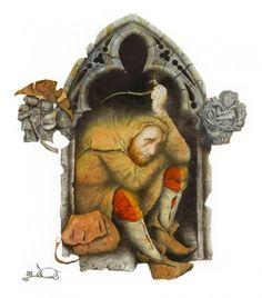 Oscar Wilde The Selfish Giant by Wladimir Dowgialo 07 Brothers Grimm, Fantastic Art, Christmas Cross, Selfish, Book Illustration, Folklore, Illustrators, Supernatural, Pop Culture
