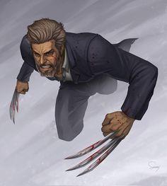 The Cult of the Wyrm — Weapon X- Wolverine by Sam DelaTorre Marvel Fan Art, Captain Marvel, Marvel Comics, Wolverine Art, Logan Wolverine, Bd Comics, Anime Comics, Comic Books Art, Comic Art