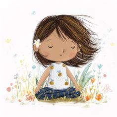 And breathe Lucy's Illustrations ( Yoga Illustration, Character Illustration, Illustrator, Yoga Art, Cute Drawings, Doodle Art, Cute Art, Art Sketches, Watercolor Art